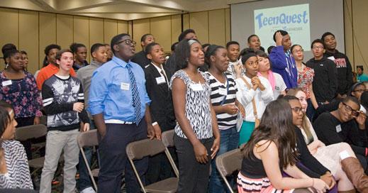 TeenQuest teens begin business etiquette training