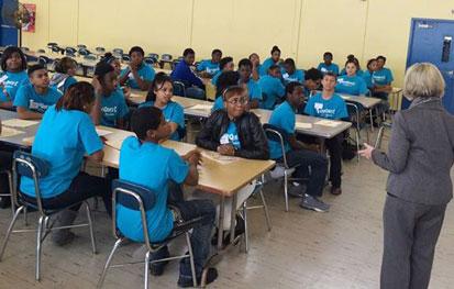 TeenQuest students